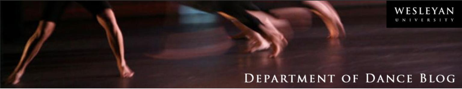 Wesleyan Department of Dance Blog